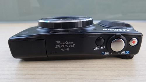 Canon PowerShow SX700HS ด้านบน