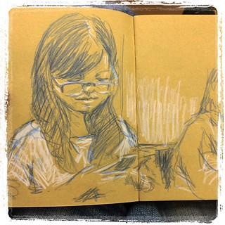 #japon #kyoto #portraits #urbansketch #colerase #kraft