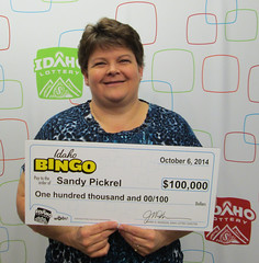 Sandy Pickrel - $100,000 Idaho Bingo