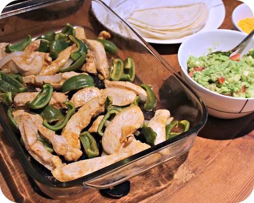 Baked Tequila Lime Chicken Fajitas