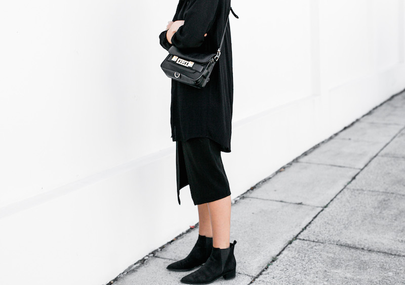 MODERN LEGACY fashion blog all black street style monday Proenza Schouler PS11 BC the Label Acne Jensen suede ankle boots (4 of 4)