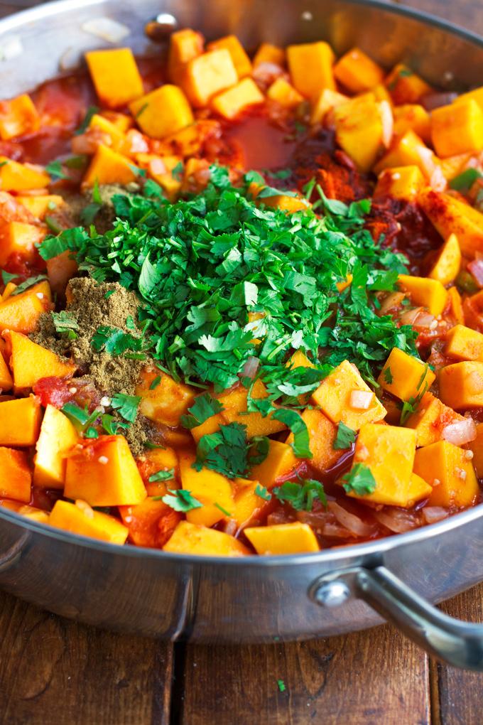 Butternut Squash Black Bean Enchilada Casserole