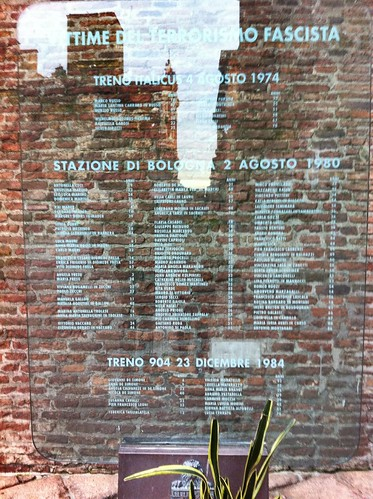 So that their names may never be forgotten -Homage to the victims  of an ultra-right terrorist attack in Bologna Station in August 1980