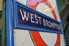 West Brompton sign