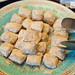 Glutinous rice rolls with sweet bean flour at Made in China\'s breakfast buffet