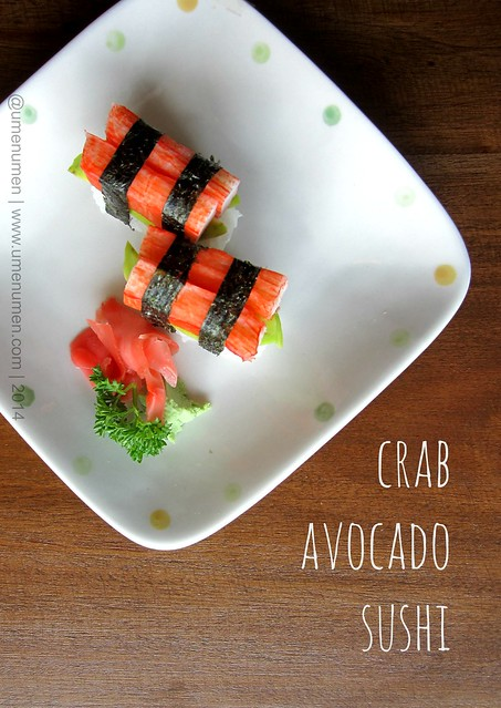 Crab Avocado Sushi