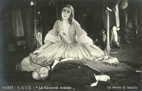 Soava Gallone and Emilio Ghione in La cavalcata ardente