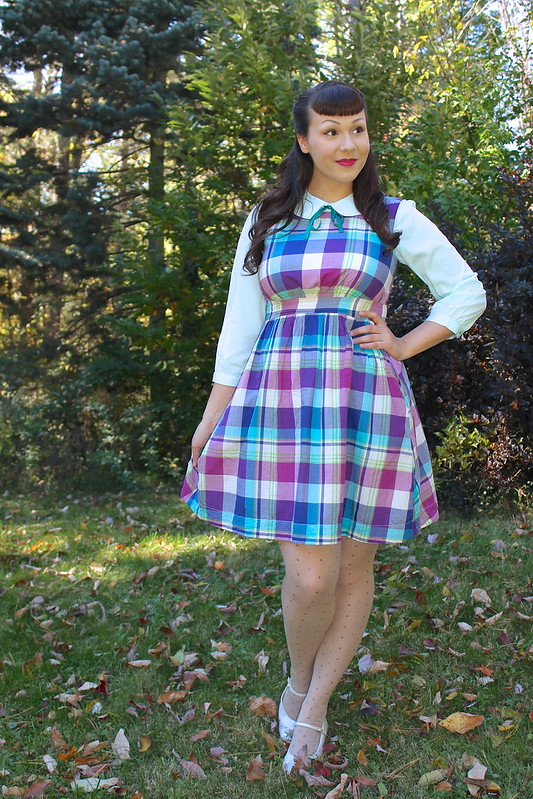plaid dress modcloth