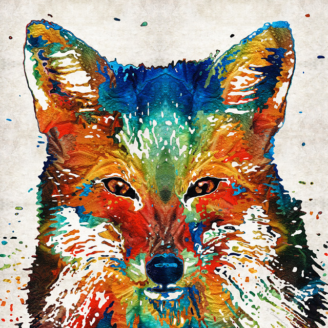 Colorful Fox Art Foxi By Sharon Cummings Flickr