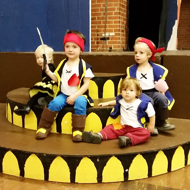 2 Jakes, a Cubby, and a bumblebee at the preschool party! #halloween