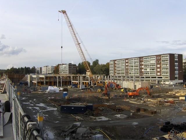 Hämeenlinnan moottoritiekate ja Goodman-kauppakeskus: Työmaatilanne 22.9.2012 - kuva 12