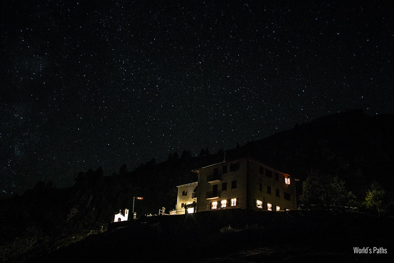 Night at Selleries hut