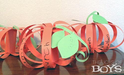 Gratitude Pumpkins (Photo from The Joy of Boys)