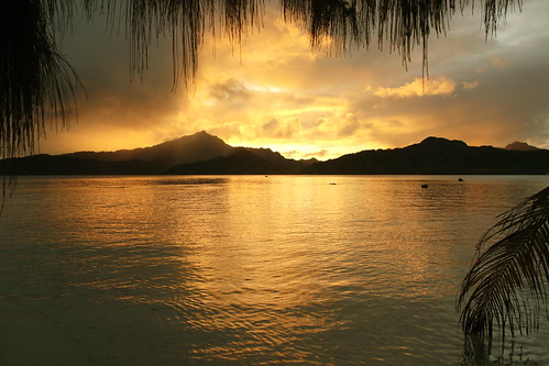 ocean travel sunset sky sun love nature colors island polynesia paradise view pacific lagoon passion tahiti tropics atoll frenchpolynesia tahaa landcsape thankslife ilessouslevent tropicalmood clicheforu motumahaea terainuitour