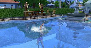 The Sims 4 pool swim death 1