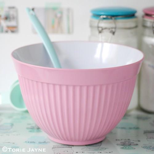 Pink mixing bowl