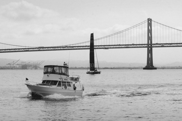 Boats and the San Francisco Bay Bridge