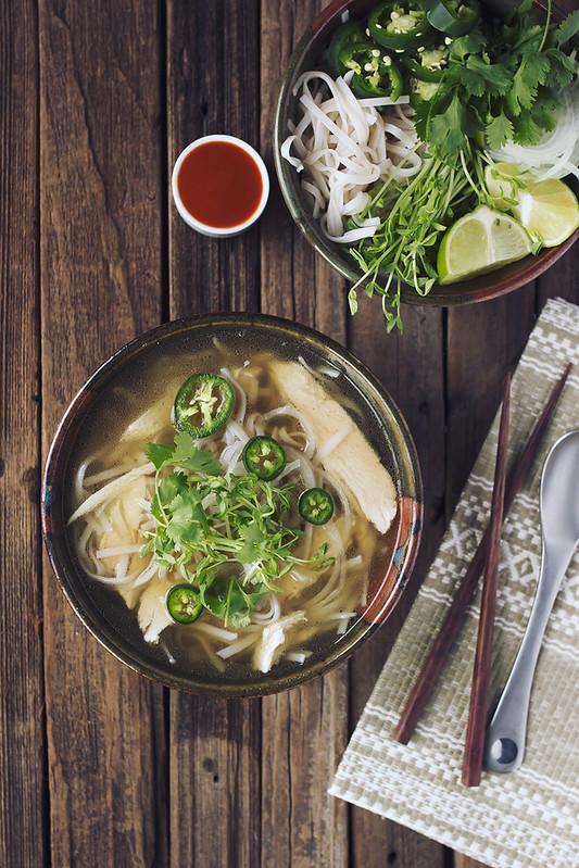 Chicken Pho (Vietnamese Noodle Soup)