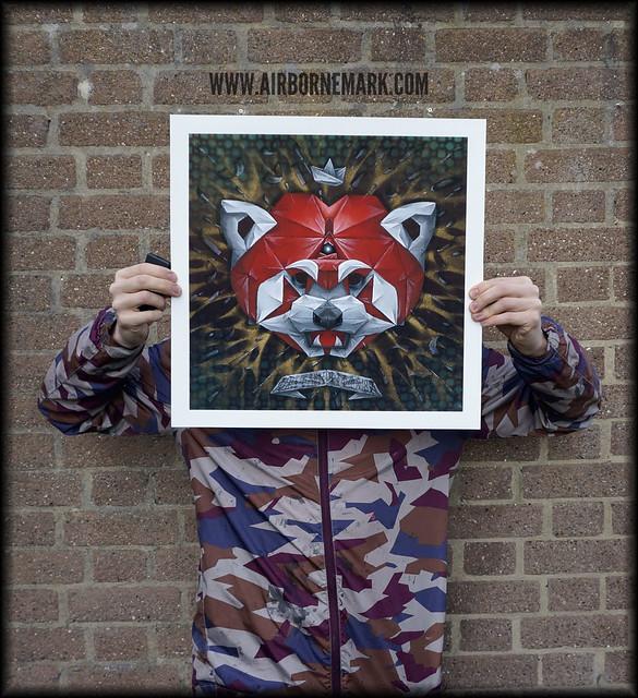 """Origami Red Panda"" - glicee  print"