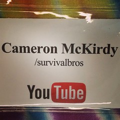 Follow #SurvivalBros and Cameron McKirdy on #YouTube I have two #video channels. #online