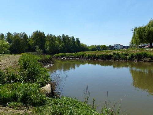 Saubusse, Landes: confluence de l'estey et de l'Adour.