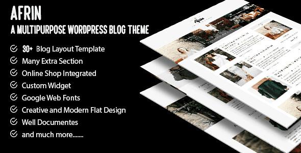 Afrin WordPress Theme free download