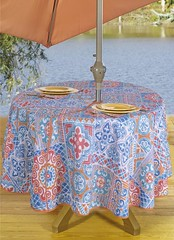 Round Tablecloths Outdoor Tablecloth Umbrella Hole