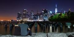 Uitkijkend op Lower Manhattan