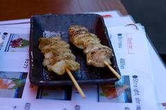 Chicken Skin and Chicken Meat at Small Ameyoko Restaurant