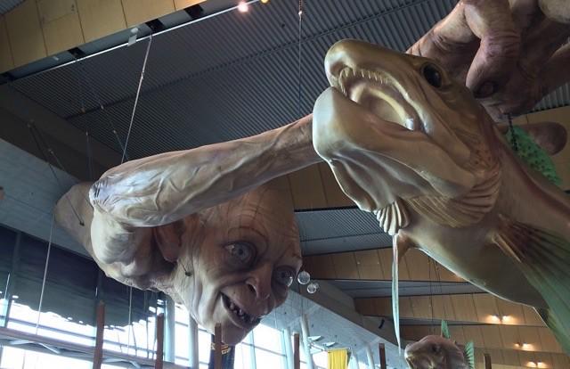 Gollum in Wellington Airport