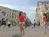 Macedonia, Thessaloniki, ... watch your step girl at Aristotelous square, Greece #Μacedonia by gentle wolf