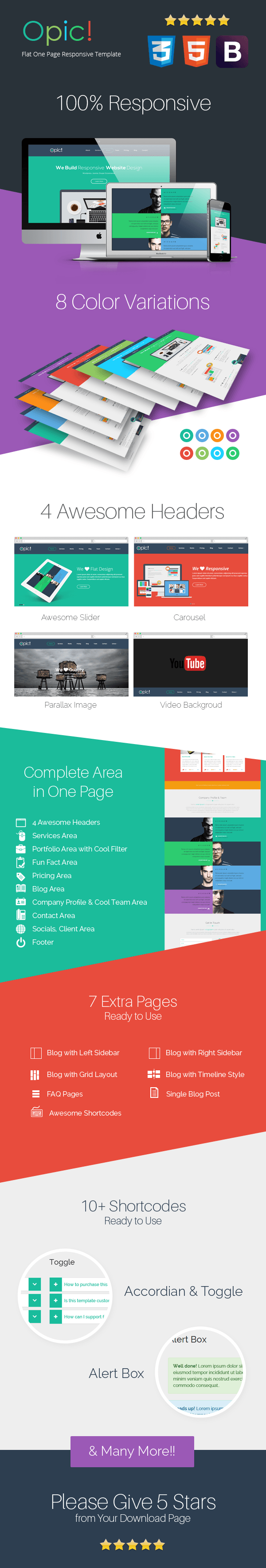 Opic! Flat One Page Responsive Template - 3