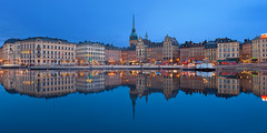 Blue Hour at Gamla Stan, Stockholm