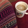 Enjoying a cup of coffee with these wild new leggings. I bought the leggings the end of last winter and never got to wear them until this morning. They're cozy! #coffee #fall #friendliestfriend #coconutmilkinmycoffee
