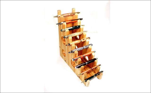 Cedar Pen Display Stand