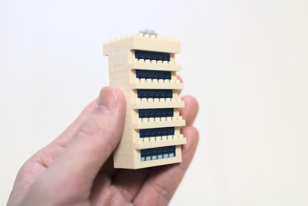 ナノブロック_情景ビルセット組み立て7