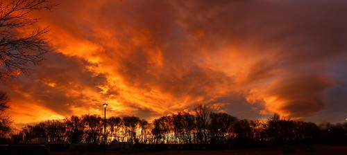 morning trees sky panorama orange clouds sunrise colorado wave boulder lenticular