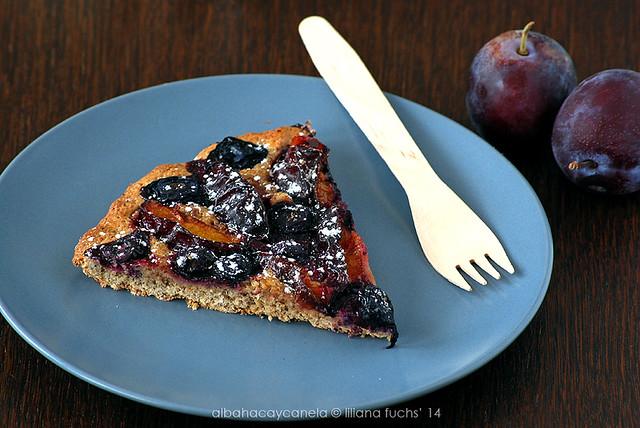 Hazelnut plum tart