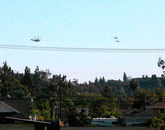Obama fly-over San Dimas, Ca.