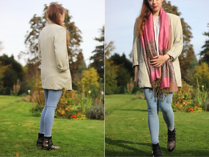 Boots und Blazer kombinieren - skinny Jeans Topshop erfahrung - autumn look outfit blogger-tile