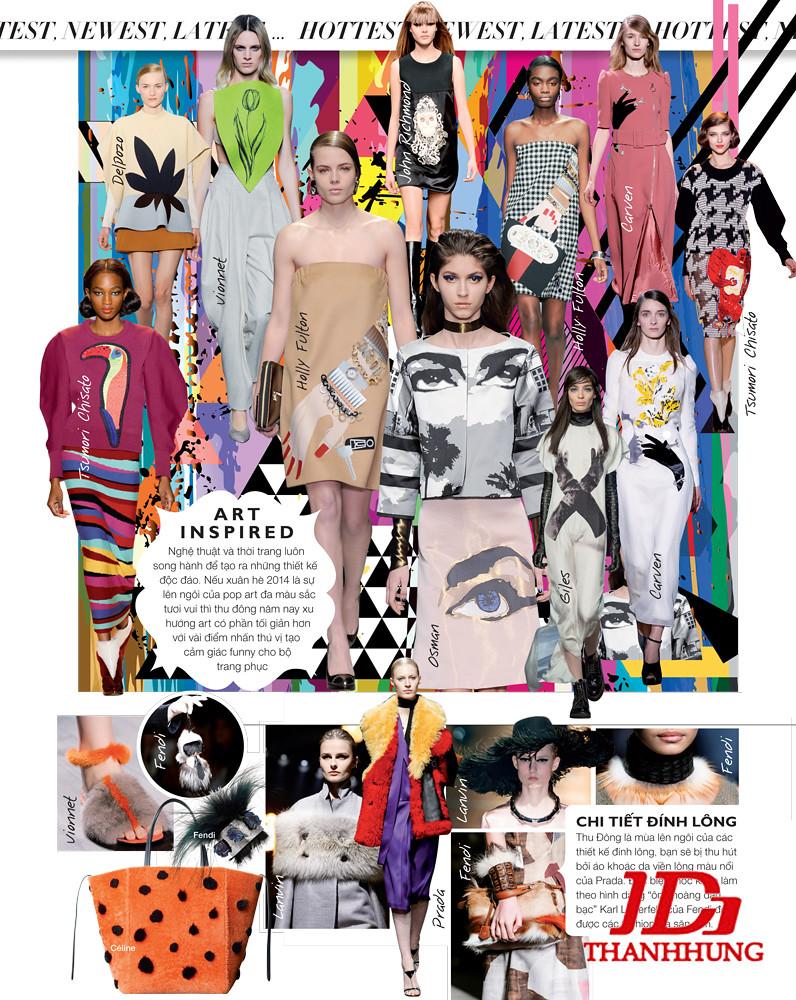 Xu hướng thời trang Thu Đông 2014/2015 cực HOT 2
