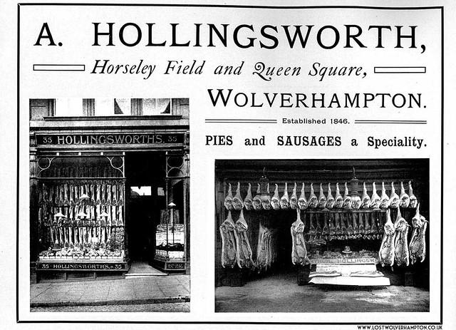 A Hollingsworths Pork and Bacon curers established in 1846