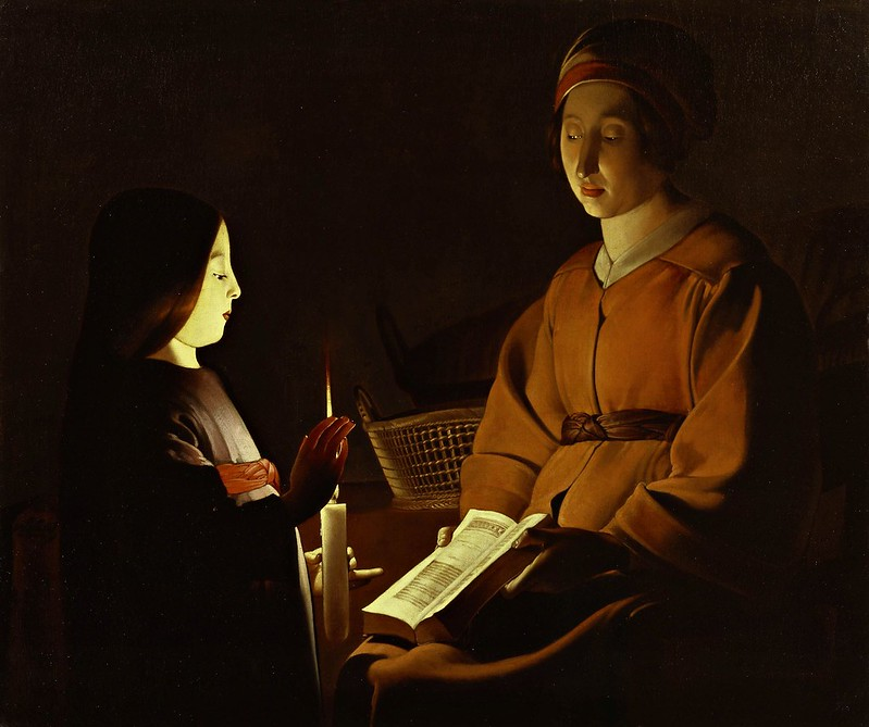 Georges de La Tour - Education of the Virgin (c.1650)