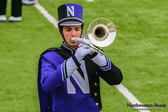 Locked on Target ::  	   The Northwestern University 'Wildcat' Marching Band rehearses outside Ryan Field before Northwestern Football hosts Wisconsin on October 4, 2014.  Photo by Daniel M. Reck '08 MSEd.