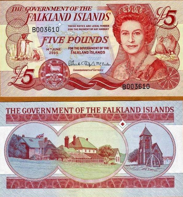 5 Libier Falklandské ostrovy 2005, Pick 17