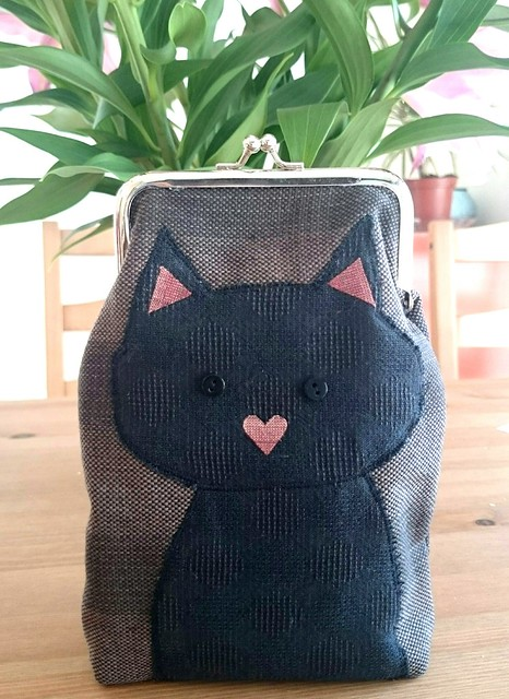 cat metal frame purse