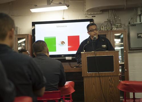 Makin Island Sailors and Marines Observe Hispanic Heritage Month
