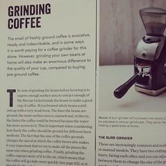 Salah satu bab mengenai proses penggilingan kopi di dalam buku The World Atlas of Coffee karya James Hoffmann.   #Philocoffee