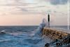 UK Weather, Stormy Seas, Aberystwyth