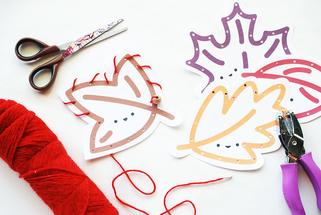 Leaf Lacing Cards